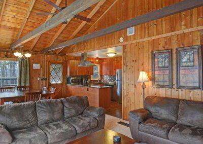 Cabin 31 - Open Living Area