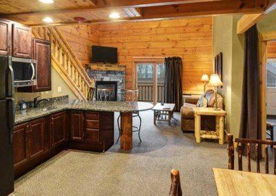 Cabin 48 - Open Living Area